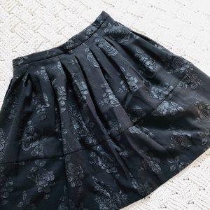 Elle rose appliqué full skirt